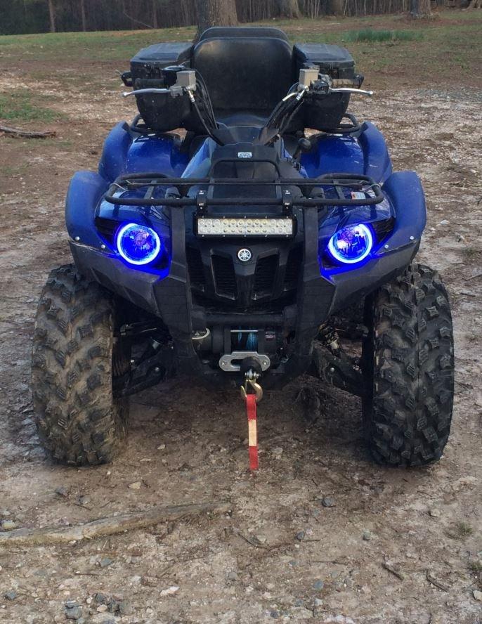 2x Blue LED Kawasaki Brute Force Addon Angel Eye Headlamp Headlight Halo Rings
