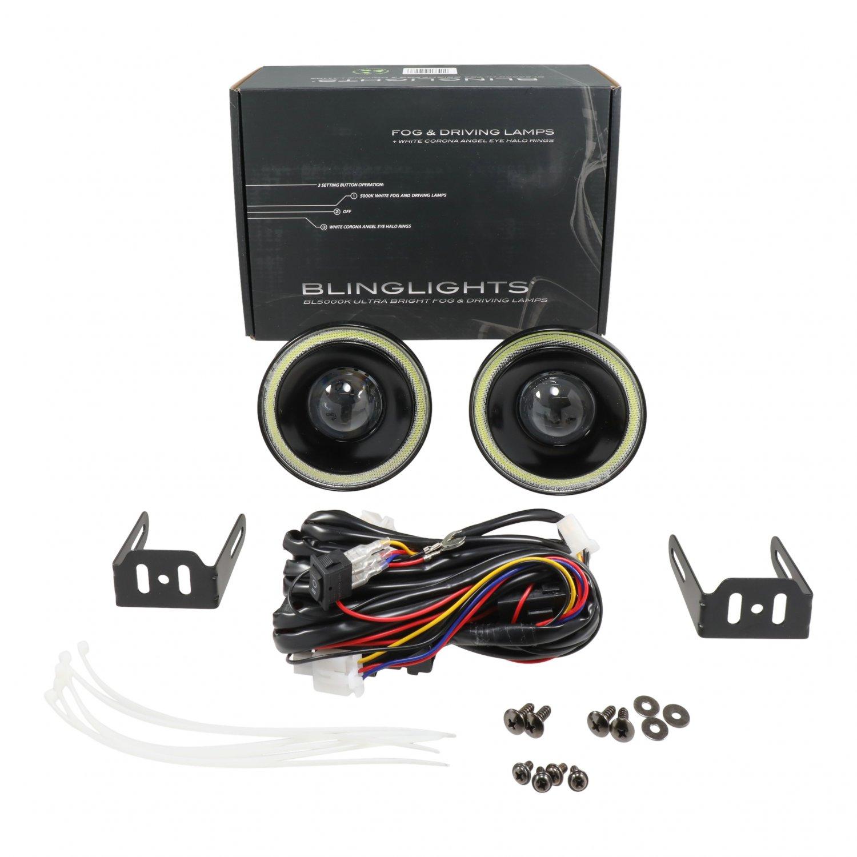 """BlingLights BL5000K 4.3"""" Round White Halo Angel Eye LED Fog Lights Kit"""