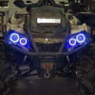 4x Blue LED Angel Eye Halo Rings for Can Am Outlander 650 850 1000