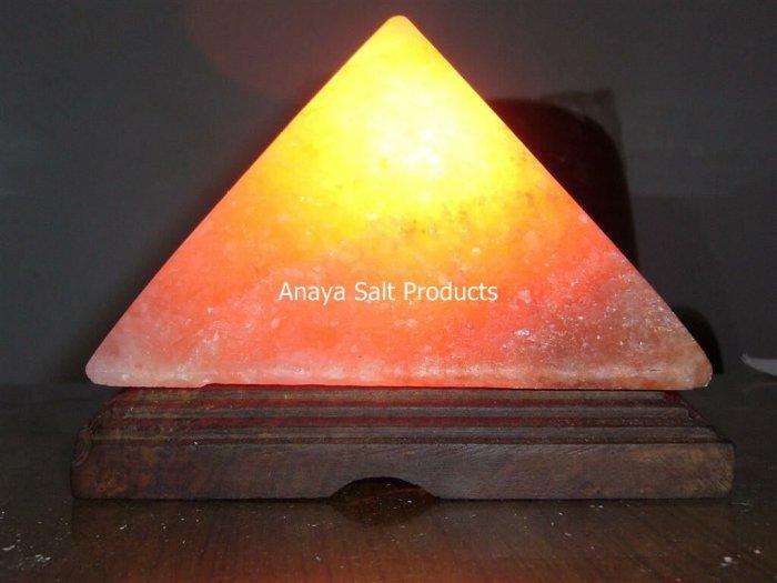 Rock Salt Pyramid Lamps