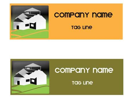 Real estate or construction company logo