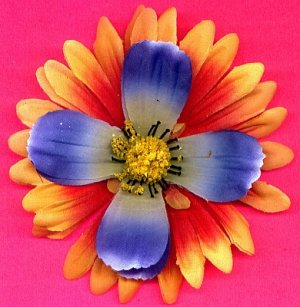 #CLIP-45: Tropical Flower Hair Clothing Accessories Clip, Pin and Ponytail Holder