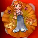 #CLIP-34: Flirty Girl Flower Hair Clothing Accessories Clip, Pin and Ponytail Holder