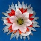 #CLIP-163: Snowflake Style Flower Hair Clothing Accessory Clip, Pin and Ponytail Holder