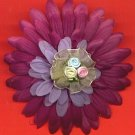 #CLIP-76: Fabric Rosebud Flower Hair Clothing Accessories Clip, Pin and Ponytail Holder