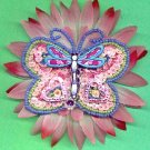 #CLIP-86: Sequin Beaded Butterfly Hair Clothing Accessories Clip, Pin and Ponytail Holder