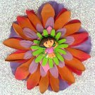 #CLIP-165: Dora the Explorer Flower Hair Clothing Accessory Clip, Pin and Ponytail Holder