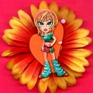 #CLIP-43: Funky Legwarmer Dance Girl Flower Hair Clothing Accessories Clip, Pin and Ponytail Holder