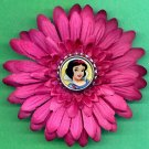 #CLIP-83: Snow White Flower Hair Clothing Accessories Clip, Pin and Ponytail Holder