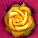 #CLIP-98: Glitter Rose Flower Hair Clothing Accessories Clip, Pin and Ponytail Holder