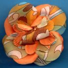 #CLIP-143: Retro Swirl Flower Hair Clothing Accessories Clip, Pin and Ponytail Holder