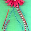 #HGCLIP-25: Crochet Flower Hair Clothing Accessories Clip, Pin and Ponytail Holder