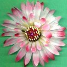 #CLIP-17: Gemstone Flower Hair Clothing Accessory Clip, Pin and Ponytail Holder
