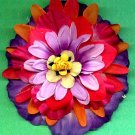 #CLIP-113: Neon Flower Hair Clothing Accessory Clip, Pin and Ponytail Holder