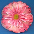 #CLIP-169: Flirty Pink Flower Hair Clothing Accessory Clip, Pin and Ponytail Holder