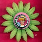 #CLIP-09: Cinderella Bottle Cap Flower Hair Clothing Accessory Clip, Pin and Ponytail Holder