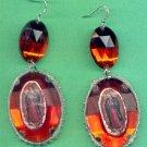 #EARVM-02:  Jumbo Jewel Virgen of Guadalupe Earrings