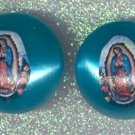 #EARVM-03:  Jumbo Jewel Virgen of Guadalupe Earrings