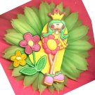 #CLIP-12: Pretty Princess Flower Hair Clothing Accessory Clip, Pin and Ponytail Holder
