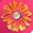 #CLIP-123: Tinkerbell Bottlecap Flower Hair Clothing Accessories Clip, Pin and Ponytail Holder
