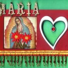 #WALLPLAQUE-21: Hand decorated Virgen of Guadalupe Wall Plaque