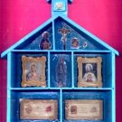 #SHADOWBOX-01: Religious Image Multi Tier Shadow Box in Shape of Church