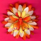 #CLIP-194: Gemstone Butterfly Flower Hair Clothing Accessory Clip, Pin and Ponytail Holder