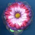 #CLIP-211: Pretty Gyspy Scrunchie Flower Hair Clothing Accessory Clip, Pin and Ponytail Holder