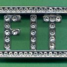 #BBUCKLE-08: Iced Out Stone Name Belt Buckle