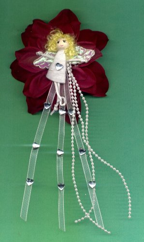 #HGCLIP41: Pretty Girl Flower Hair Clothing Accessory Clip, Pin and Ponytail Holder