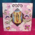 #WALLPLAQUE-20: Hand decorated Virgin of Guadalupe Wall Plaque