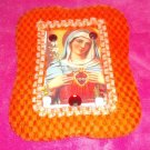 #WALLPLAQUE-10: Hand decorated Blessed Mary Wall Plaque or Standing Frame