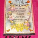 #WALLPLAQUE-01: Hand decorated AUNT I Love You Wall Plaque Picture