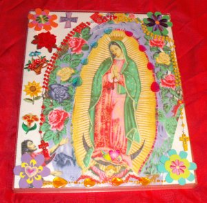 Folkart-09: Novelty virgin guadalupe Picture Wall Art