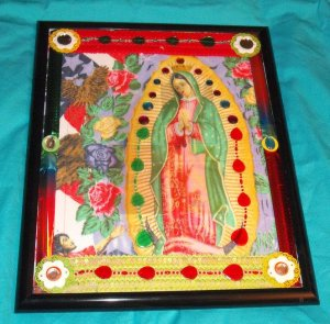 Folkart-12: Novelty virgin mary guadalupe Picture Wall Art