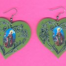 #EARVM-07: Praying Mary Jumbo Heart Earrings
