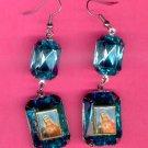#EARSH-08: Sacred Heart of Mary Jumbo Gem Image Earrings