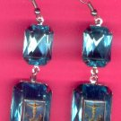 EARSH-09: Jesus on the Cross Jumbo Gem Image Earrings