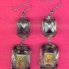 #EARVM-12: Jumbo Gem Virgin Mary Guadalupe Earrings