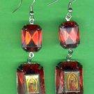 #EARVM-13: Jumbo Gem Virgin Mary Guadalupe Earrings