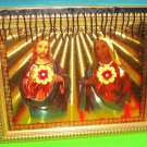 Folkart-20: Novelty Sacred Heart of Jesus & Mary Picture Wall Art