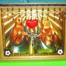 Folkart-22: Novelty Sacred Heart of Jesus & Mary Picture Wall Art