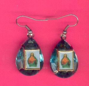 Mini Gem Jesus On The Cross Earrings