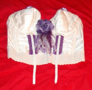 Crochet Ribbon Bow Flower Bustier Top