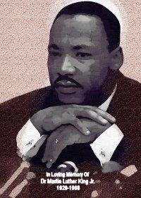Martin Luther King Jr. Poster Art Print size 8x10