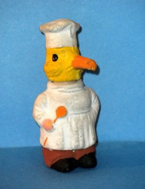 Antique German Easter Duck Chef Candy Container Mache Small Adorable