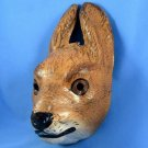 Antique German Easter Rabbit Hare Mask Paper Cardboard Rarity Halloween Carnival Display