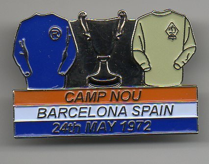 1972 European Cup Winners Cup Kit Pin Badge