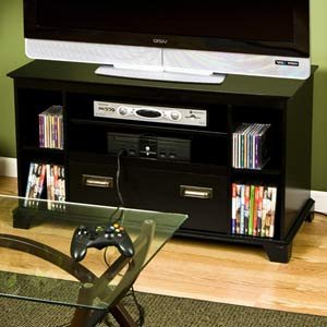 tv entertainment center gaming console. Black Bedroom Furniture Sets. Home Design Ideas