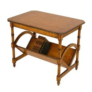 Distressed Bookseller End Table